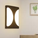 Creative Rectangular Wall Lamp Minimalism Acrylic Black Waterproof LED Sconce Light Fixture for Bedroom