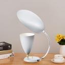 Adjustable Modernist Flare Desk Lighting Metal 1 Light Living Room Read Book Light in Black/White/Grey