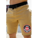 Trendy Training Street Drawstring Waist Letter IRON AESTHETICS Logo Graphic Rolled Edges Relaxed Shorts
