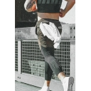 Training Active Guys Drawstring Waist Letter BUTZ Print Relaxed Jogger Shorts with Towel Loop