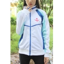 Casual Boys Long Sleeve Stand Collar Letter IWATOBI Graphic Contrasted Relaxed Baseball Jacket