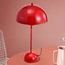 Macaroon 1 Bulb Reading Lamp Black/White/Red Bowl Study Lighting with Iron Shade for Study Room