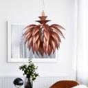 Pinecone Restaurant Pendant Lighting Metallic 1-Bulb Modernist Hanging Ceiling Lamp in Copper