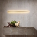 Metallic Linear Wall Sconce Modernist Gold LED Wall Mounted Lamp for Stairway in Warm/White/Natural Light