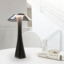 Slim Night Table Lamp Contemporary Acrylic Grey/Rose Gold Touch Control LED Desk Light for Bedroom