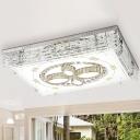 K9 Crystal Chrome Flush Ceiling Light Rectangular LED Minimalism Flush Mount Lighting