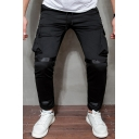 Popular Solid Color Flap Pockets Drawstring Waist Tape Panel Ankle Relaxed Trousers for Men