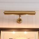 Brass Tube Vanity Sconce Lighting Post Modern 2 Bulbs Metal Wall Mounted Lamp for Bathroom