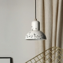 Urn Ceiling Hang Fixture Nordic Cement 1 Light Coffee House Drop Pendant Lamp in White