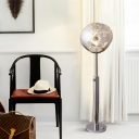 Designer Lava-Like Floor Light Acrylic LED Living Room Standing Floor Lamp in Chrome/Rose Gold with Expansion Bar