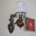 Bronze Finish 1/2-Light Sconce Antiqued Opal Glass Flower Wall Lighting Ideas for Bedside