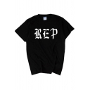Cool Girls Black Short Sleeve Crew Neck Letter READY FOR IT Print Loose Fit T-Shirt