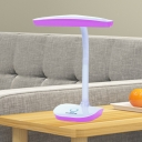 Plastic Rectangular Table Lighting Contemporary LED Reading Book Lamp in Pink/Blue with Plug In Cord