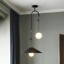 Wide Cone Metal Down Lighting Pendant Modernist 10