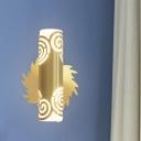 Metal Brass Sconce Light Tubular Hollowed Out Single Vintage Wall Lighting Ideas