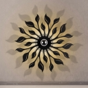 Blossom Living Room Sconce Light Metal LED Nordic Wall Mount Lamp Fixture in Black