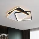 Acrylic 3-Square Flush Lamp Fixture Simple 17