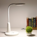 Oval Adjustable Reading Book Light Modern Plastic LED White/Blue Desk Lamp with Touching Switch