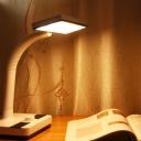 Rectangle Rotatable Desk Light Modern Plastic LED Study-Room Reading Book Lamp in White and Black