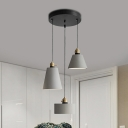 Grey Geometric Multiple Hanging Light Vintage Cement 3 Heads Bar Ceiling Pendant Lamp
