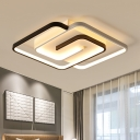 Interlaced Square Flush Mount Ceiling Fixture Contemporary Acrylic 18