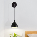 Urn Metal Wall Hanging Light Modernism 1 Head Black/White Finish Wall Mounted Lamp for Bedside