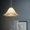Single Bulb Bedroom Pendant Lighting Modernist White Suspension Lamp with Lily Acrylic Shade