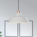 White Barn Pendant Lighting Minimalist 1 Head Iron Ceiling Suspension Lamp over Dining Table