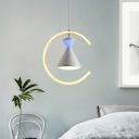 Acrylic C-Ring Hanging Chandelier Contemporary White LED Down Lighting with Hourglass Design for Bedroom