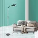 White/Black Finish Loop Floor Reading Lamp Modernist LED Metal Standing Lamp for Living Room