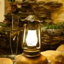 Frosted Glass Brass Table Light Kerosene 1-Light Warehouse Desk Lighting for Bedroom