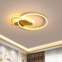 Cloud Ceiling Mounted Light Modern Style Acrylic LED Gold Flush Mount Spotlight with Circular Design