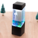 Jellyfish /Volcano/Jelly Nightstand Light Kids Acrylic LED Black Night Table Lamp with Battery Design