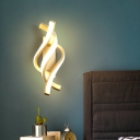 Spiral Wall Mount Lighting Modern Acrylic LED White Sconce Lamp Fixture in White/Warm Light for Bedside