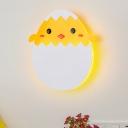 Acrylic Eggette/Dinosaur Sconce Cartoon LED Wall Mount Light Fixture in Green/Yellow, White/Warm Light