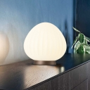 Acrylic Spherical Table Light Contemporary Style White LED Creative Nightstand Lamps for Bedroom