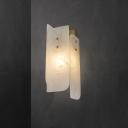 White Rectangle Panel Sconce Lamp Minimalist 1-Light Marble Wall Mount Light Fixture