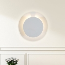 Moon Eclipse Rotatable Sconce Nordic Creative Iron White LED Wall Lighting Fixture