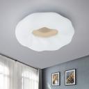 Black and White Round Flush Lamp Contemporary LED Acrylic Flush Mount Ceiling Light
