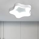 Acrylic Star Flushmount Lighting Modern LED Ceiling Mount Light Fixture in Grey/White for Bedroom