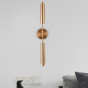 Brass Spear Wall Lamp Mid-Century 1/2-Head Metal Sconce Light Fixture for Living Room