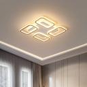 Simple Rectangle Frame Flush Light Acrylic 16.5