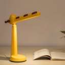 Cartoon Giraffe Shaped Night Table Light Plastic LED Bedside Night Lamp in Yellow