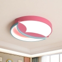 Pink Moon Splicing Flush Light Macaron Aluminum 18
