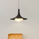 Iron Black Finish Ceiling Chandelier Trumpet Shape 6/11 Lights Farmhouse Hanging Lighting