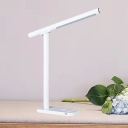 Slim Tube Rotatable Table Light Simple Metallic LED White Reading Book Lamp with Lanyard