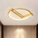Modern Stylish Clock Design Ceiling Flush Aluminum Bedroom 18