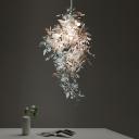 Shattered Flower Pendant Light Fixture Modernist Metal 1 Head Chrome Finish Suspension Lamp