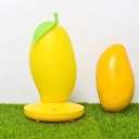 Plastic Mango-Shape Night Light Creative Pink/Yellow/Green Finish LED Rechargeable Nightstand Lamp