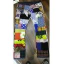 Hip Hop Style Graffiti Patchwork Button Placket Colorful Denim Pants Retro Straight Jeans